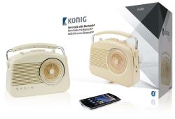 König HAV-TR800BE Retroradio met draadloze Bluetooth-technologie