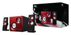 Sweex SP211 Sweex 2.1 Speakerset Purephonic 60 Watt Rood