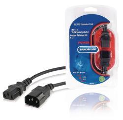 Bandridge BPL2705 IEC C13-verlengsnoer IEC-320-C14 - IEC-320-C13 5,0 m zwart