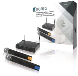 KN-MICW611 Draadloos microfoonsysteem met 2 microfoons
