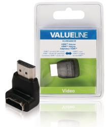 Valueline VLVB34901B HDMI adapter HDMI connector 90° gehoekt - HDMI input zwart