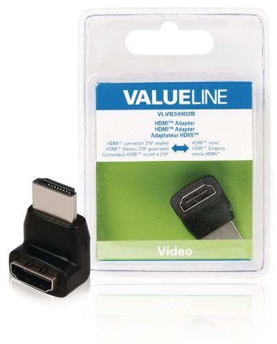VLVB34902B HDMI adapter HDMI connector 270 gehoekt - HDMI input zwart