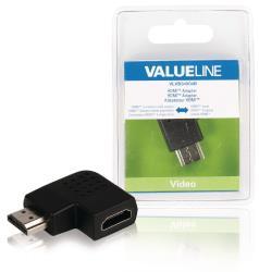 Valueline VLVB34904B HDMI adapter HDMI connector rechts gehoekt - HDMI input zwart