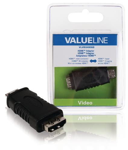 VLVB34906B HDMI adapter HDMI mini-connector - HDMI input zwart