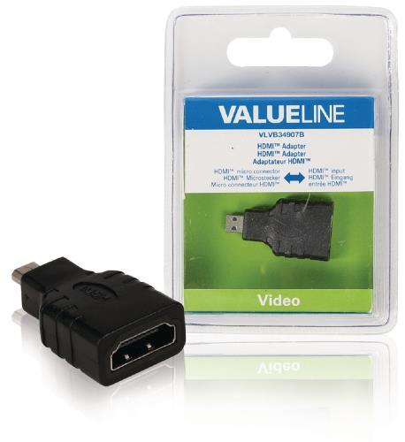 VLVB34907B HDMI adapter HDMI micro-connector - HDMI input zwart