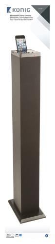 König CSBTSPTWR100BL Bluetooth + NFC tower speaker black