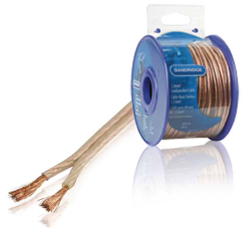 Bandridge BRM1530 1,5 mm² luidsprekerkabel 30,0 m transparant