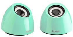 Sweex SW20SPS100GR 2.0 speakerset USB voeding 2x 3 W draagbaar groen