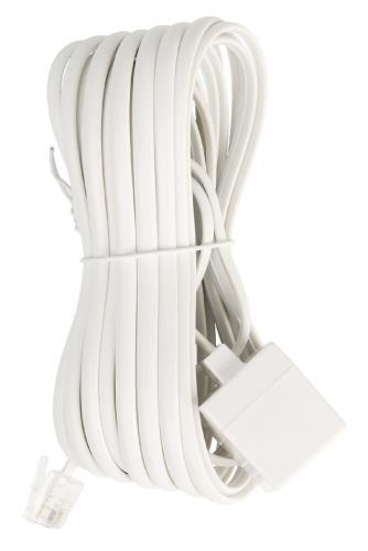 VLTP90205W50 Telecom verlengkabel RJ11 mannelijk - RJ11 vrouwelijk 5,00 m wit
