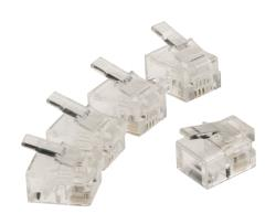 Valueline VLTP90923T RJ11 connector RJ11 mannelijk transparant 10 stuks