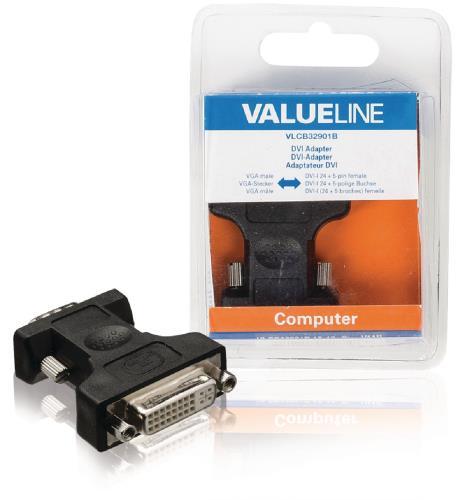 VLCB32901B DVI-adapter VGA mannelijk - DVI-I 24 5-pins vrouwelijk zwart