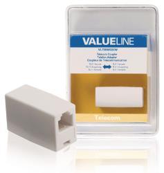 Valueline VLTB90920W Telecomkoppeling RJ11 vrouwelijk - RJ11 vrouwelijk wit