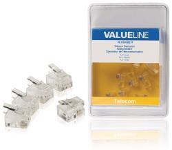 Valueline VLTB90923T Telecomconnector RJ11 mannelijk transparant