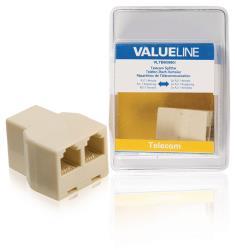 Valueline VLTB90990I Telecomsplitter RJ11 vrouwelijk - 2x RJ11 vrouwelijk ivoor