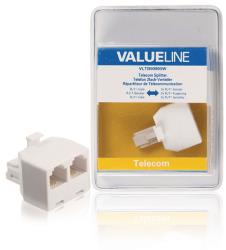 Valueline VLTB90995W Telecomsplitter RJ11 mannelijk - 2x RJ11 vrouwelijk wit