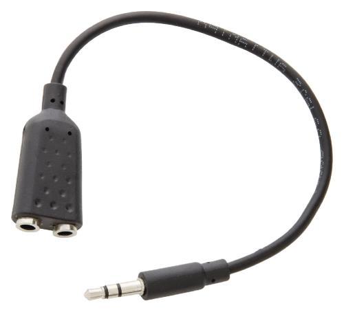 Valueline VLMB22100B02 Jack stereo audiosplitterkabel 3,5 mm mannelijk - 2x 3,5 mm vrouwelijk zwart 0,20 m