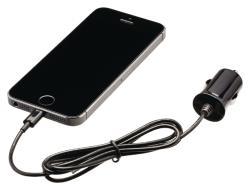 Valueline VLMP39891B10 Lightning-aansluiting autolader lightning male - 12V-autoaansluiting 1,00 m zwart 2.4A