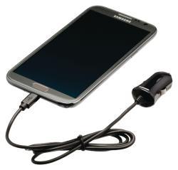 Valueline VLMP60890B10 Micro-USB-autolader Micro USB male - 12V autoaansluiting 1,00 m zwart 2.1A