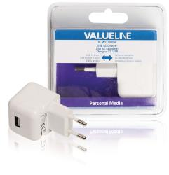 VLMB11955W USB-lader USB A female - AC-huisaansluiting wit 2.1A