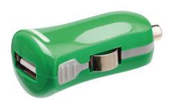 Valueline VLMP11950G USB-autolader USB A female - 12V-autoaansluiting groen