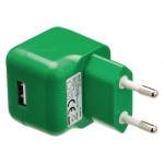Valueline VLMP11955G USB-lader USB A female - AC-huisaansluiting groen