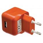 Valueline VLMP11955O USB-lader USB A female - AC-huisaansluiting oranje