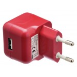 Valueline VLMP11955R USB-lader USB A female - AC-huisaansluiting rood