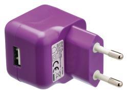 Valueline VLMP11955U USB-lader USB A female - AC-huisaansluiting paars