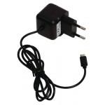 Valueline VLMP60891B10 Micro-USB-lader Micro USB male - AC-huisaansluiting 1,00 m zwart 2.1A