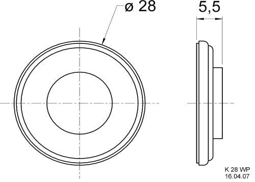 Visaton K 28 WP 50 OHM Miniature loudspeaker 50 ? 2 W