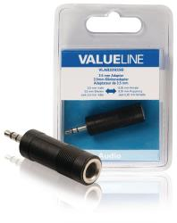 Valueline VLAB22935B Audio-adapter 3,5 mm male - 6,35 mm female zwart