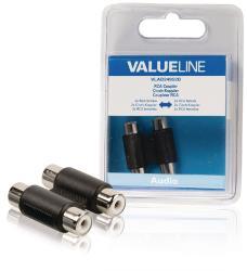Valueline VLAB24952B Audiokoppelstuk 2x RCA female - female zwart