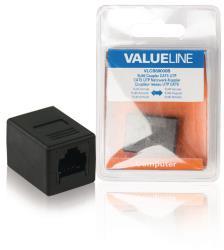 Valueline VLCB89000B CAT5 netwerkkoppelstuk RJ45 female - female zwart
