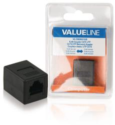 Valueline VLCB89010B CAT6 netwerkkoppelstuk RJ45 female - female zwart