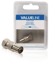 Valueline VLSB41953M Antenne-adapter F-connector male - coax male metaal