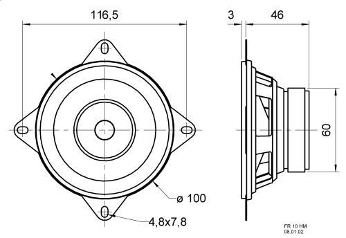 Visaton FR 10 HM 8 OHM Broadband speaker 8 ? 30 W