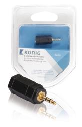 König KNA21930E 2,5 mm audio adapter 2,5 mm male - 3,5 mm female 1 stuk grijs
