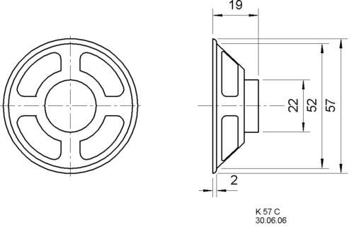 Visaton K 57 C 8 OHM Miniature loudspeaker 5.7 cm 8 ? 3 W
