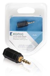 König KNA22930E 3,5 mm audio adapter 3,5 mm male - 2,5 mm female 1 stuk grijs
