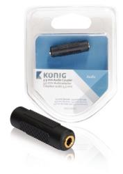 König KNA22950E 3,5 mm audiokoppelstuk 3,5 mm female - female 1 stuk grijs