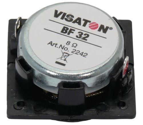 "Visaton BF 32, 8 OHM 3.2 cm (1.3"") miniature speaker 8 ? 5 W"