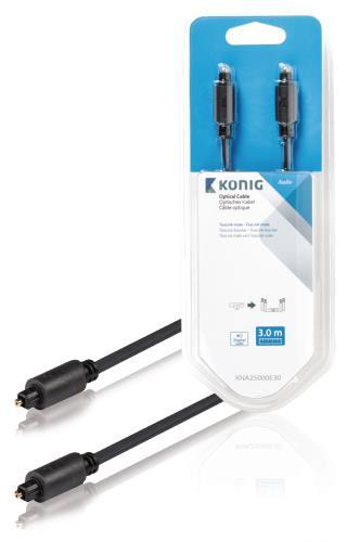 König KNA25000E30 Optische kabel TosLink male - male 3,00 m grijs