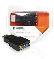 König KNC37935E DisplayPort - VGA adapter DisplayPort male - VGA female 1 stuk grijs