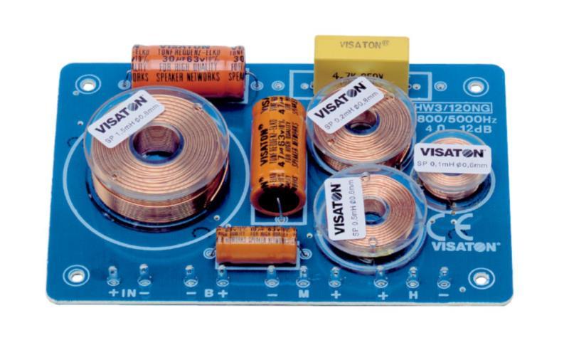 Visaton 5412 3-weg crossover 8 Ohm