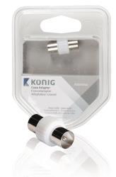 König KNS40940W Coax koppelstuk coax male - male 1 stuk wit