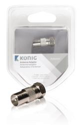 König KNS41953M Antenne adapter F male - coax male 1 pc metaal