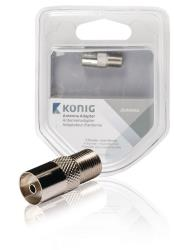 König KNS41955M Antenne adapter F female - coax female 1 stuk metaal