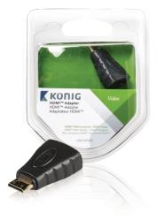 König KNV34906E HDMI adapter HDMI mini-connector - HDMI ingang 1 stuk grijs