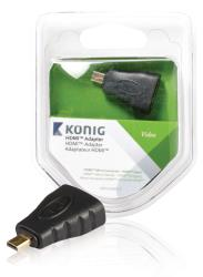König KNV34907E HDMI adapter HDMI micro-connector - HDMI ingang 1 stuk grijs