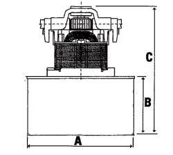 Fixapart W7-18501/A Stofzuiger motor AB86 1000 W Miele